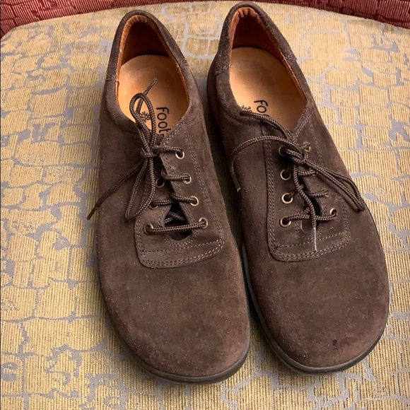 Birkenstock Footprints brown suede oxfords 7/7.5